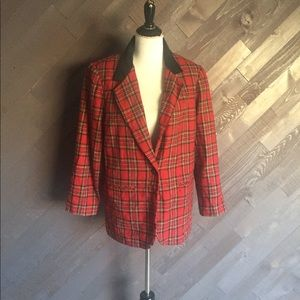 Sag Harbor Red Plaid Blazer ❤️🖤❤️